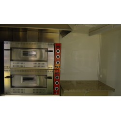 Dos hornos dobles de pizzas R-19