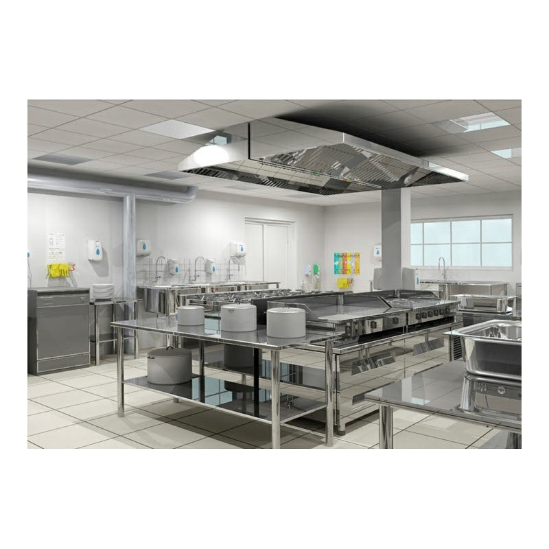 Kitchen Layout Of Large Hotel: COCINA INDUSTRIAL EN ISLA