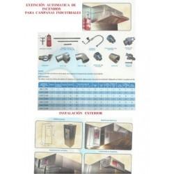 sistema contra incendios en campanas