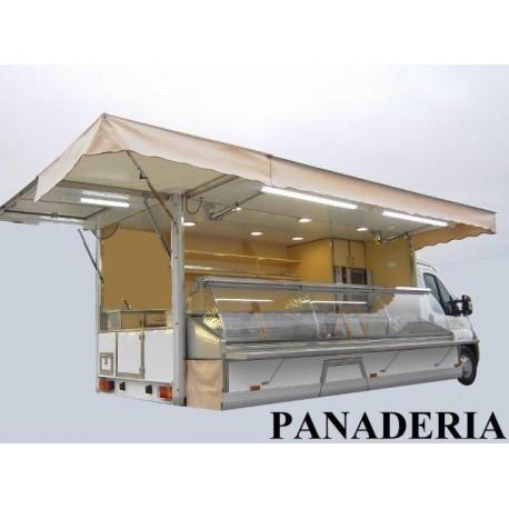 Camión panadero con vitrina