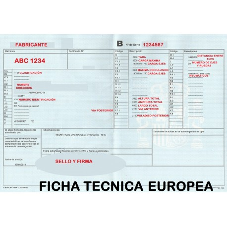 FICHA TÉCNICA EUROPEA